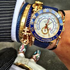 The perfect combo Gold @Rolex Yachtmaster II