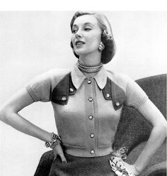 An awesome 1950s cardigan. #vintage #1950s #knits #fashion