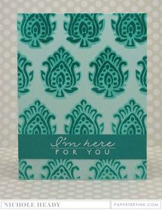 Here For You Card by Nichole Heady for Papertrey Ink (June 2016)