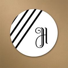 Diagonal Stripes - Envelope Seal. Available at Persnickety Invitation Studio.