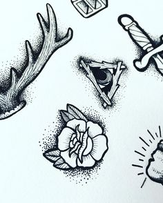 Working on some flash prints for you guys. Should be fun.  #tattooflash #illustration #prints #tattoo #flash #roses #illuminati #penandink #drawing #riveracheronapparel #apparel #clothing #womensclothing #mensclothing #metalasfuck #dots #allblackeverything by riveracheronapparel