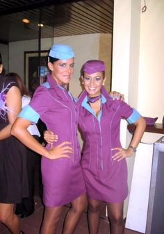 """AeroSur Bolivia dynamic duo. This pair of glamorous Bolivian air hostesses turned detective to uncover and capture two art thieves on board a flight from Mexico City to Lima. """"I didn't think the two elderly gentleman were quite what they seemed"""" recalled Maria Ruiz (left). Her suspicions were heightened when they refused to allow their hand luggage to be stored in overhead lockers even though it was causing an obstruction. When her colleague Terese Silva (right) opened the bags to lighten…"""