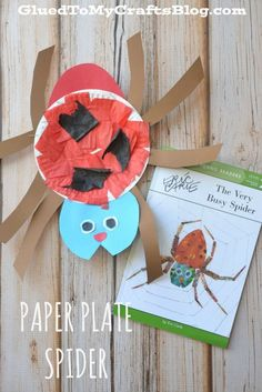 Eric Carle Paper Plate Spider – Kid Craft - Crafts for Kids Eric Carle, Paper Plate Crafts, Paper Plates, Toddler Crafts, Crafts For Kids, Toddler Art, Storybook Crafts, The Very Busy Spider, Spider Crafts
