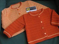 Magia do Crochet: Casacos em tricot para bebé