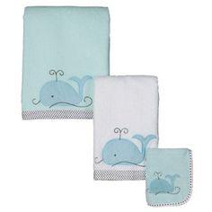 Kids' Bath Towels, Home : Target Whale Bathroom, Baby Bathroom, Bathroom Renos, Bathrooms, Beach Room, Bath Girls, Kids Board, Kid Beds, Towel Set