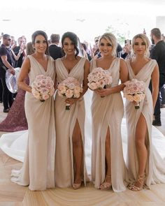 Simple V Neck Sleeveless Side Slit Chiffon Cheap Bridesmaid Dresses V-neck Bridesmaid Dresses, Sleeveless Bridesmaid Dresses, Chiffon Bridesmaid Dresses, Bridesmaid Dress, Bridesmaid Dresses Simple Bridesmaid Dresses 2018 Champagne Bridesmaid Dresses, Simple Bridesmaid Dresses, Wedding Bridesmaids, Champagne Long Dress, Wedding Gowns, Bridesmaid Ideas, Wedding Ceremony, Champagne Wedding Colors, Bridesmade Dresses