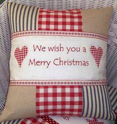 christmas carol cushion by tuppenny house designs | notonthehighstreet.com