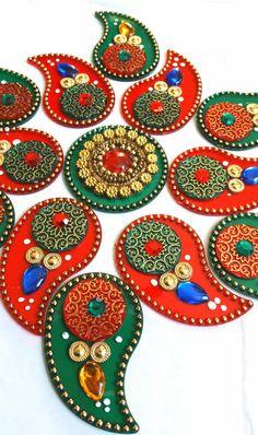 Diwali 2015 Rangoli Kundan Rangoli Diwali by JustForElegance