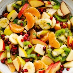 The Best Winter Fruit Salad - The Recipe Critic Fruit Salad Ingredients, Fruit Salad Recipes, Fruit Salads, Plant Based Diet, Plant Based Recipes, Pomegranate Uses, Winter Fruit Salad, All Fruits, Snacks For Work