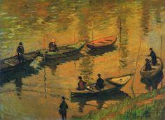 1882 Claude Monet Anglers on the Seine at Poissy(Kunsthistorisches Museum x 81 cm) Manet, Claude Monet, Monet Paintings, Impressionist Paintings, Pierre Auguste Renoir, Artist Monet, Kunsthistorisches Museum, Art Japonais, Post Impressionism