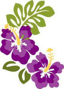 plum hibiscus clip