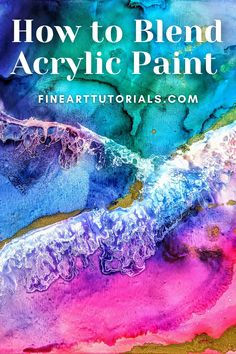 Acrylic Painting Tutorials, Painting Tips, Painting & Drawing, Watercolor Paintings, Beginner Art, Colorful Paintings, Learn To Paint, Art Tips, Craft Tutorials