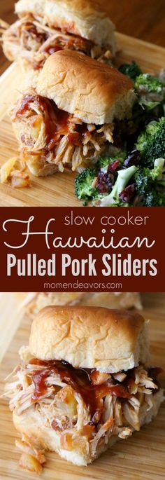 Slow Cooker Hawaiian Pulled Pork Sliders - so easy & delicious, perfect for football tailgating or an easy weeknight meal! AD Slow Cooker Hawaiian Pulled Pork Sliders - so easy & delicious, perfect for football tailgating or an easy weeknight meal! Slider Recipes, Pork Recipes, Slow Cooker Recipes, Cooking Recipes, Burger Recipes, Sausage Recipes, Kitchen Recipes, Vegan Recipes, Hawaiian Pulled Pork