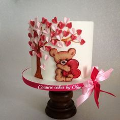 ,,Teddy in love,, cake - Cake by Couturecakesbyolga - CakesDecor