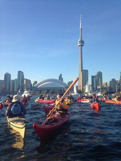 Kayaking in Toronto Harbour