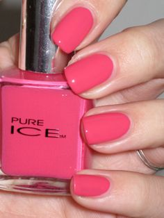 Pure Ice nail polish...once again at any drugstore. I love it because there are awesome colors and it dries VERY FAST!!!!! Oh, and not to mention...theyre very cheap compared to other polishes! (Around $2)