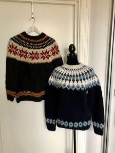 Both are knitted in high quality wool from Iceland  #knitting #knittingpatterns #handknit #handknitted #handknitting #handknitclothes #sweaters #sweaterpattern #norwegianknitting #norwegiansweater #nordicdesign #stricken #strickenmachtglücklich #strickmuster #strikkedilla #strikke #etsy #etsyshop #etsyseller #etsysellersofinstagram