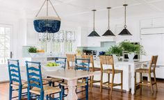 With ample seating, this spacious kitchen is ideal for entertaining and casual gatherings. | Wayfair