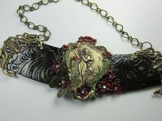 Secret  garden necklace. A Luna Hearts Wearable art by Sherry Castro