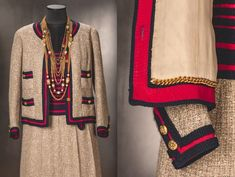 Chanel tailleur donated by H.R.H. Queen Paola of Belgium to the MoMu Collection featured in the exhibition 'The Chanel Legend', (c) Draiflessen Collection - Mettingen, Photo: Christin Losta