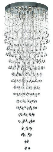 Elegant Lighting 2006G32CSA Galaxy Collection FoyerHallway Large Hanging Fixture D32 x H96 Chrome Finish Spectra Swarovski Crystal * Check out this great product.