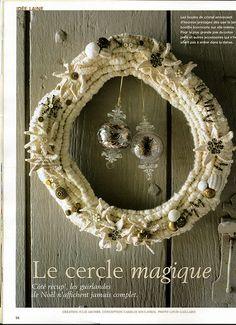 mariage ou noël Gris Saule sur table plafond suspendue Couronne .5 Crochets