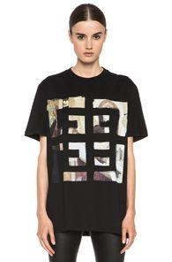 GIVENCHY 4G Painting Logo Cotton Tee