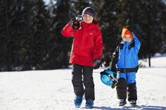 Helly Hansen kids in snow gear.  Ready to ski and play.  Photo by Cato Aurtun