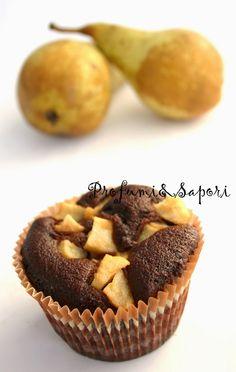 Profumi&Sapori: Tortine ciocco-pera senza zucchero, senza burro, senza glutine, senza ...