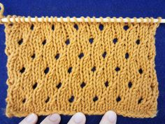 The simplicity of the eyelet stitch works well for feminine items (such as shawls) or baby clothes. Ribbon can be woven through a row of the eyelets to create a decorative feature or it can be used as a drawstring.