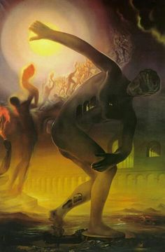 "Salvador Dali (1904-1989) ""Cosmic Athlete"" (1968)"