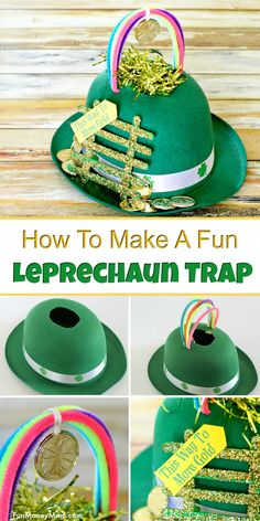 Easy Leprechaun Trap - Want to catch a leprechaun for St. This fun leprechaun trap may just do the trick! The kids will love making this St. Patrick's Day trap to catch that sneaky leprechaun! crafts Under The Rainbow Leprechaun Trap Creative Crafts, Kids Crafts, Easy Crafts, Diy And Crafts, Arts And Crafts, Craft Kids, Preschool Crafts, St Patrick's Day Crafts, Kids Diy