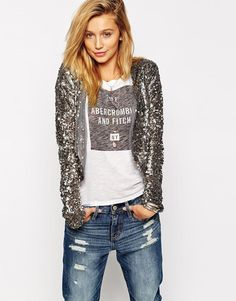 Abercrombie & Fitch | Abercrombie & Fitch Sequin Cover Up at ASOS