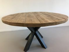 Eettafel Industriele Spinpoot</p> Round Dinning Table, Dining, Diner Table, Apartment Interior, Furniture Inspiration, Home Living Room, Furniture Design, House Styles, Home Decor