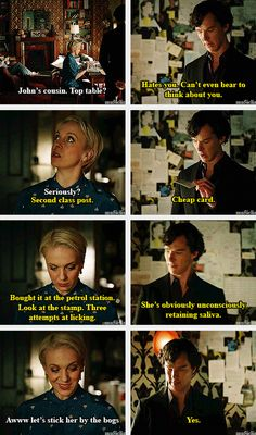 Sherlock is the ultimate wedding planner and Mary adores him.