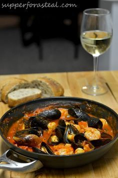 Portuguese Mussels and Shrimp in Chorizo Sauce