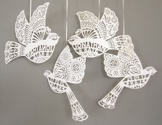 Personalised laser cut love birds by comeuppance