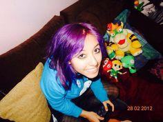 Pink hair / nice style / colour / miau / purple / blue / bowser / nintendo / mario / jake the dog / GIR / yoshi / ps3 / link / zelda