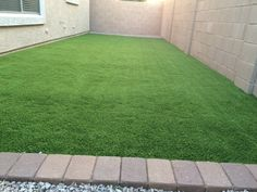 if you have a back yard thats dull boring concrete create a lawn from astro turf .ideal if you have dogs or kids easy to clean and bring a nice feel to the feet