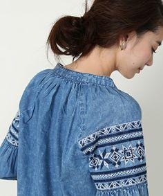 1c7d3f822a0 【セール】インディゴ刺繍ブラウス(シャツ/ブラウス)|FREAK'S STORE(フリークスストア)のファッション通販 - ZOZOTOWN