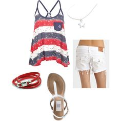 Casual and simple July 4th outfit for a cookout!