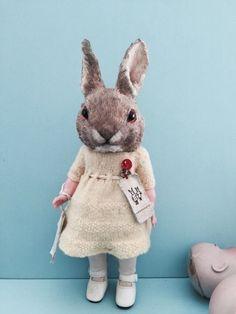 "Fabulous OOAK ""Sunshine"" Rabbit by Annie Montgomerie   eBay"