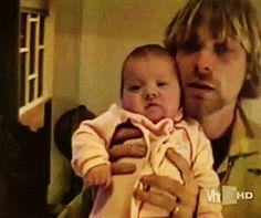 Kurt Cobain, Courtney Love and Frances Bean