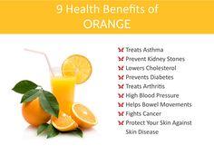 Health benefits of #Orange.