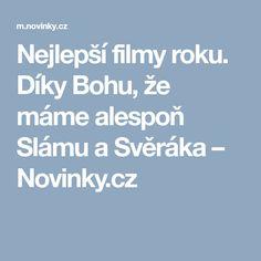 Nejlepší filmy roku. Díky Bohu, že máme alespoň Slámu a Svěráka– Novinky.cz