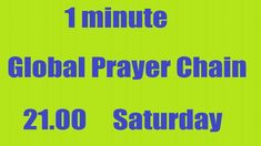 Will you Join 1minute #GlobalPrayerChain to #PrayWithNick🙏 for #GlobalPe...