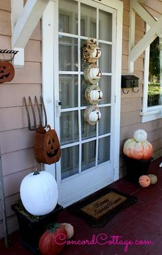 Fall Outdoor Home Porch Decorations