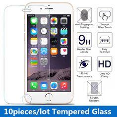 10ピース/ロット9 h 0.3ミリメートル2.5dプレミアム強化ガラススクリーンプロテクター用iphone 7 4 s 5 5 s 5c 6 6 6/6 s-plus高靭保護フィルム