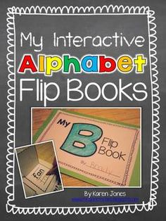 Interactive Alphabet Flip Books! Fun way to learn about letters and beginning sounds. $