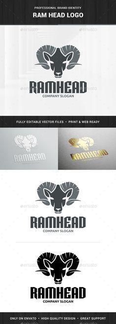 Ram Head Logo Template — Transparent PNG #ram logo #tattoo • Available here → https://graphicriver.net/item/ram-head-logo-template/14265054?ref=pxcr